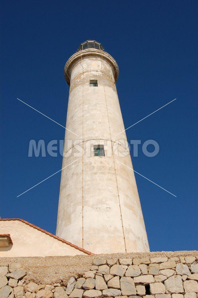 Capo Granitola lighthouse front view - MeusPhoto