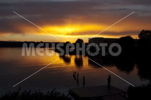 Sunset on Sabaudia lake - MeusPhoto