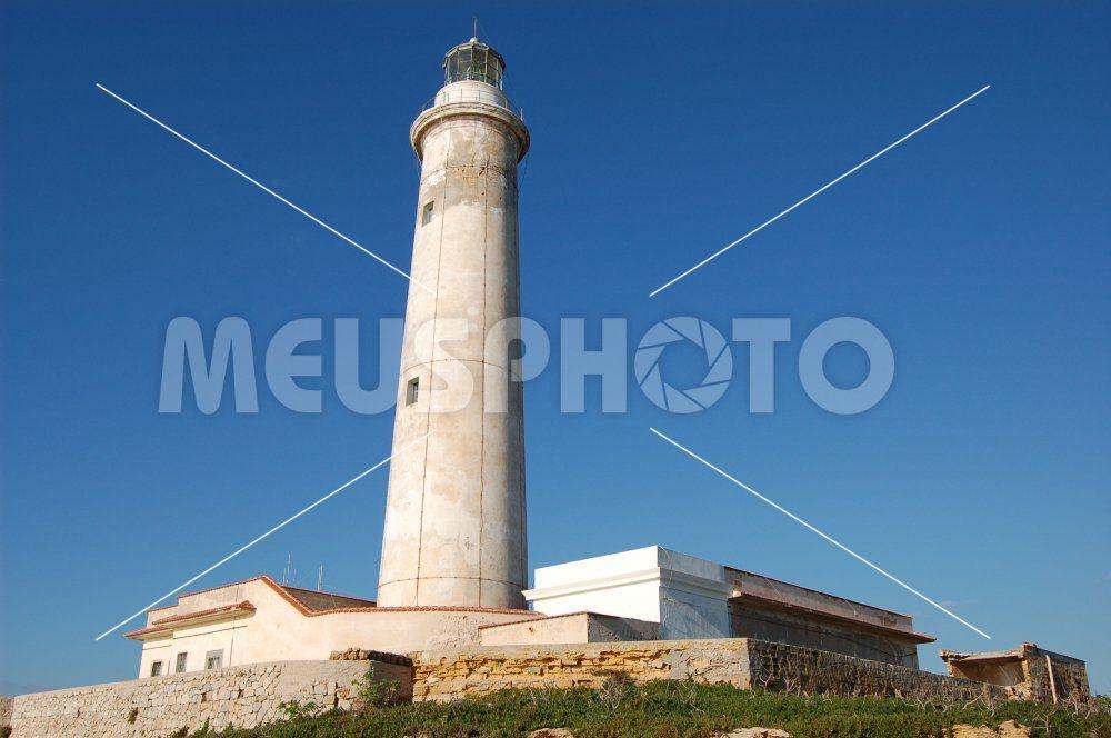 Capo Granitola lighthouse in the blu sky - MeusPhoto