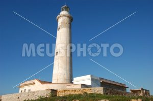 Capo Granitola lighthouse in the blu sky - MeusPhoto