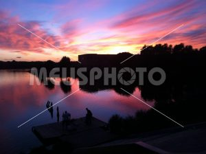 Multicolor sunset above Sabaudia Lake - MeusPhoto